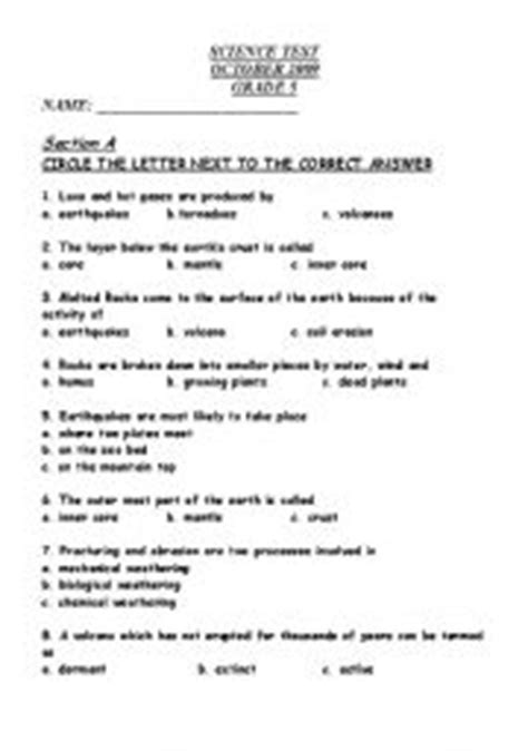 printable volcano quiz earth science volcanoes and earthquakes