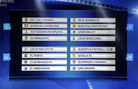 chions league draw 2016 chions league draw 2015 uefa chions league groups