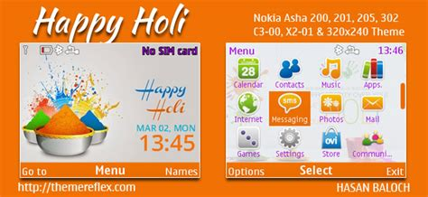 beautiful girl themes nth happy holi 2015 theme for nokia 320 215 240 nokia 240 215 320