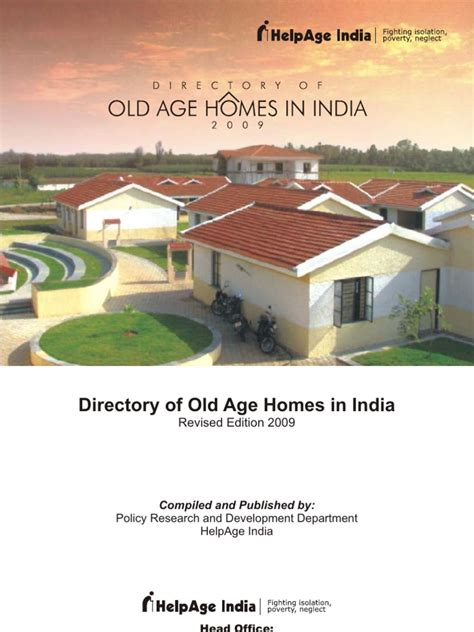 directory of age homes in india 2009