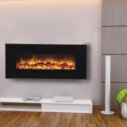 Modern Electric Fireplace Touchstone 80001 Onyx Contemporary Electric Wall Mounted Black Fireplace