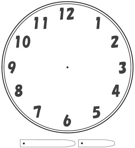 clockface template telling time clock school stuff