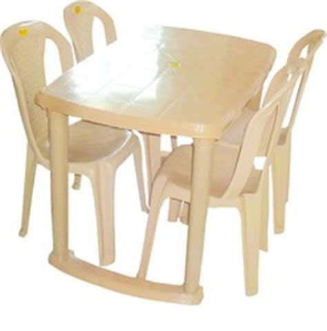 buy plastic dining table with 4 chair set in india