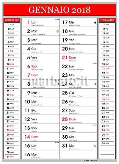 Calendario Annuale 2018 Calendario 2018 Con Lune E Numeri Settimana Da Stare