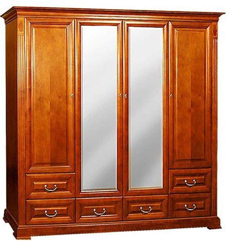 kleiderschrank kirsche massiv klassische m 246 bel kleiderschrank 4t 252 rig kirsche spiegel