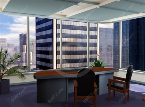 perspective view   desk   corporate office