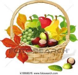 frutta clipart cesto con autunno frutta clip k19958576 fotosearch