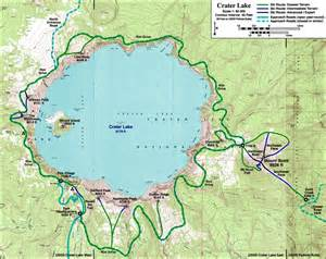 map of lakes skiing the cascade volcanoes crater lake