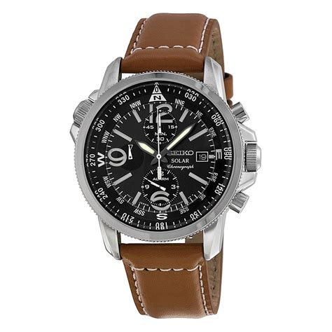 seiko prospex solar chronograph compass black s