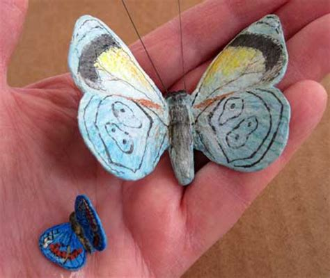 How To Make A Paper Mache Butterfly - make a delicate butterfly with paper mache clay ultimate
