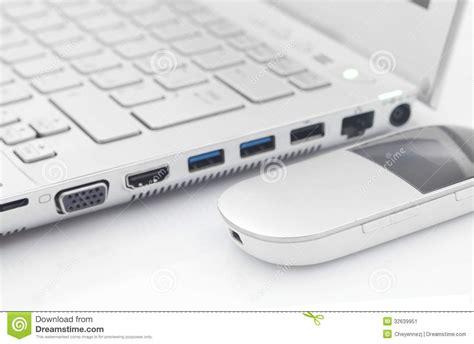Modem 4g Pc Computer With 4g Modem Wireless Stock Image Image 32639951
