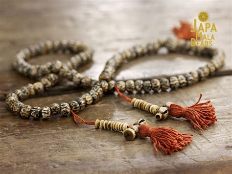 mantras for mala carved bone mantra mala japa mala