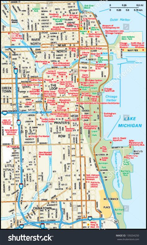 chicago map illustration chicago map vector free