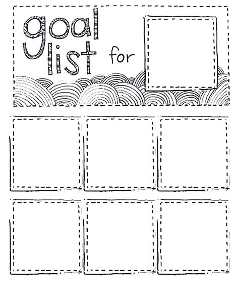 goal list template printable goal list using post it do diy