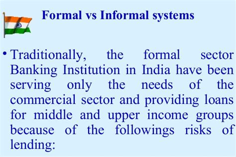 Formal Sector Credit In India Empowering Sh Gs