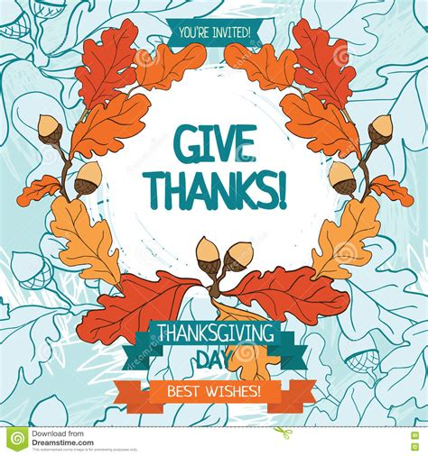 thanksgiving card template free illustrator thanksgiving card template stock vector image 73872030