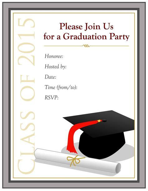 graduation invitation templates free word free graduation invitation templates for word template design