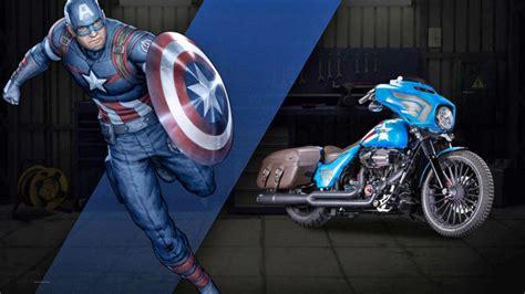 Tas Iron Captain America Marvel Costom Modif Army Balap Racing harley and marvel built a series of badass custom choppers