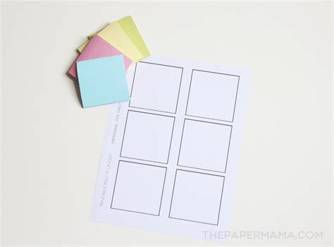 Printable Post It Notes Free Layout To Print And Make Your Own Post It Template