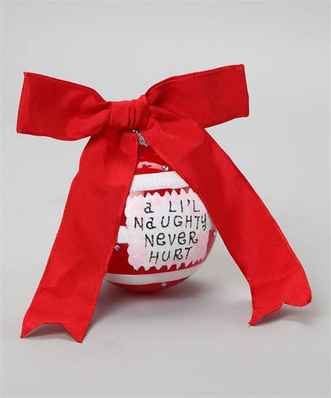 naughty sassy ornament  zulily today   christmas crafts