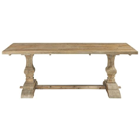 distressed wood dining table w 220cm lourmarin maisons