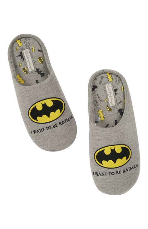 primark slippers an amazing grey i want to be batman slippers for you all