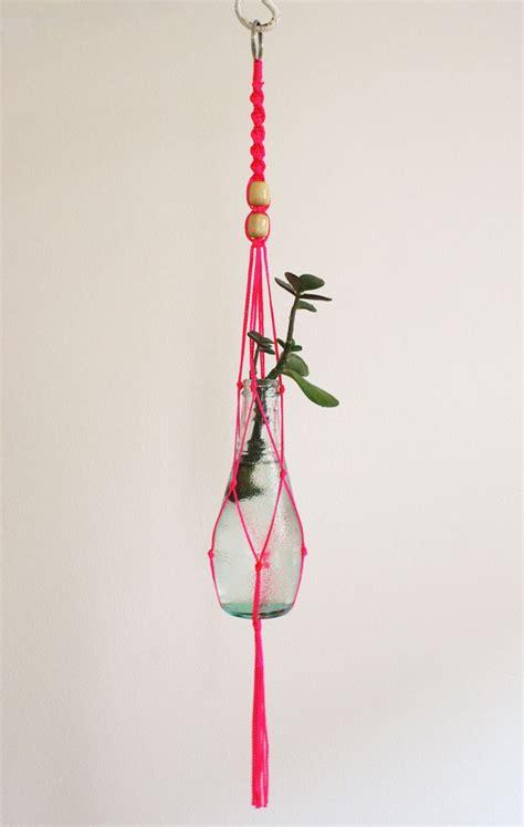 Macrame Plant Hanger Supplies - small macrame plant hanger neon pink