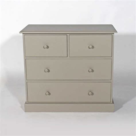 Commode Taupe commode 4 tiroirs en bois taupe cr 232 me made in meubles