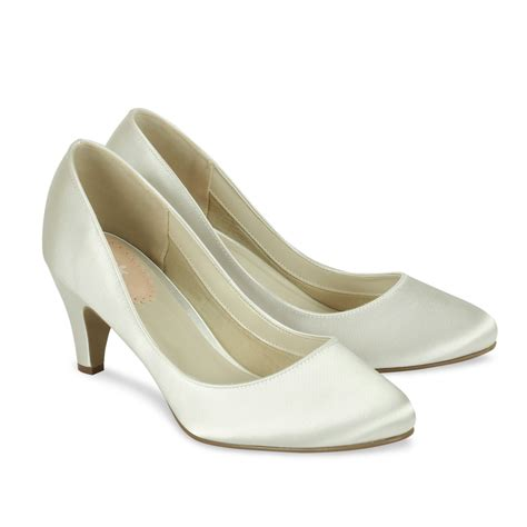 ivory satin wedding shoes paradox pink affection
