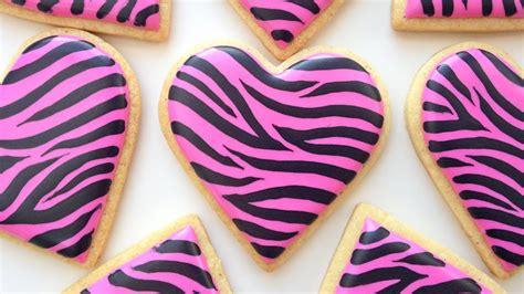 decorate zebra print cookies youtube
