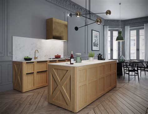 Parisian Kitchen Design Classic Parisian Apartment Has A Fish Tank As A Bar And A Crate Style Kitchen
