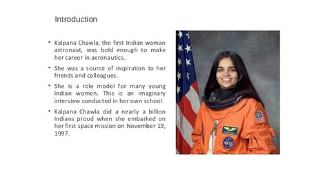 Kalpana Chawla Biography In English In Short | kalpana chawla short presentation