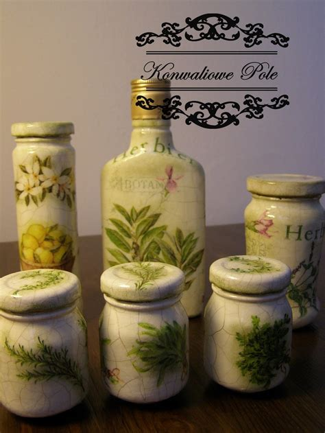 Decoupage On Glass Jars - 281 best decoupage bottles jars images on