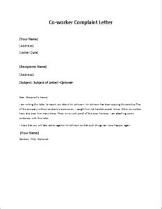 Sle Complaint Letter Rude Co Worker complaint letter about co worker or colleague at http writeletter2 complaint