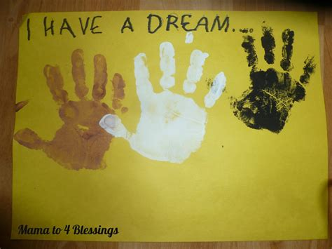 martin luther king crafts for martin luther king jr lapbook craft to 6 blessings