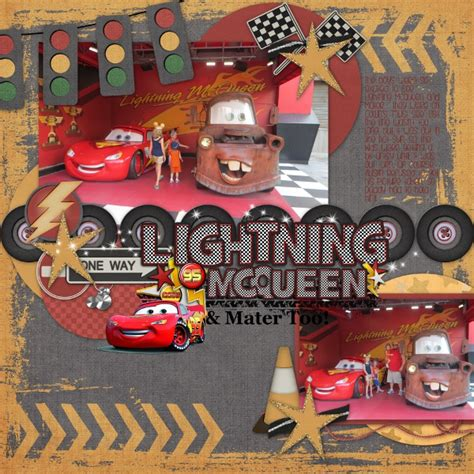 cars photo booth layout ss 169 lightning mcqueen mater too mousescrappers