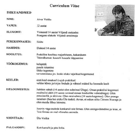 Cv In Personal Information Letter From Curriculum Vitae Personal