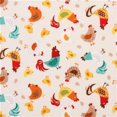 chicken pattern roller blind cream colored chicken animal fabric by andover usa animal