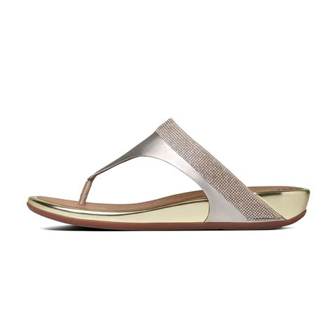 Sandal Wanita Fitflop Banda Flower fitflop banda micro leather flip flops fitflop products available o c