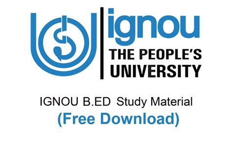 ignou b ed study material ignou books free master search