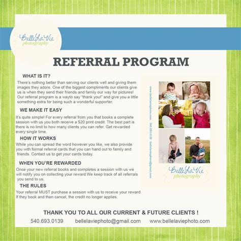 referral card template photography 11 best referral images on referral cards