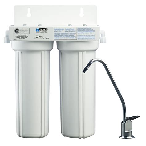 watts 2 stage lcv water filtration system lead cyst