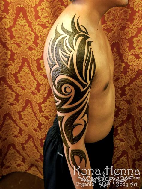 henna tattoo sleeve best 25 tribal sleeve tattoos ideas on