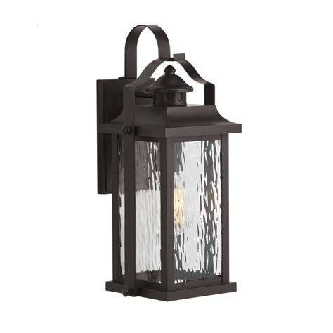 Lowes Outdoor Lights Shop Kichler Linford 17 24 In H Olde Bronze Medium Base E 26 Outdoor Wall Light At Lowes