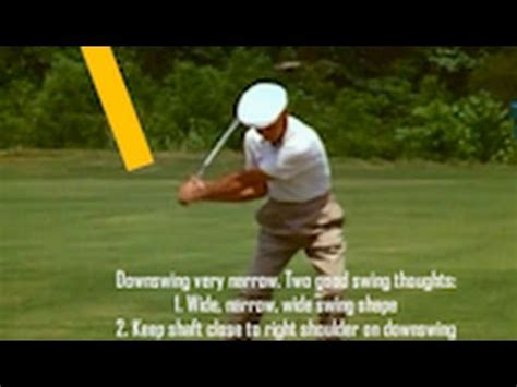 ben hogan slow motion golf swing ben hogan classic golf swing with key move face on