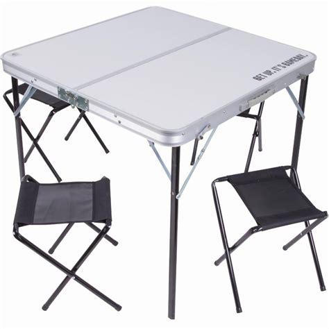 tavolo pic nic pieghevole tavolo tavolino pieghevole in alluminio 80x80 con 4 sedie
