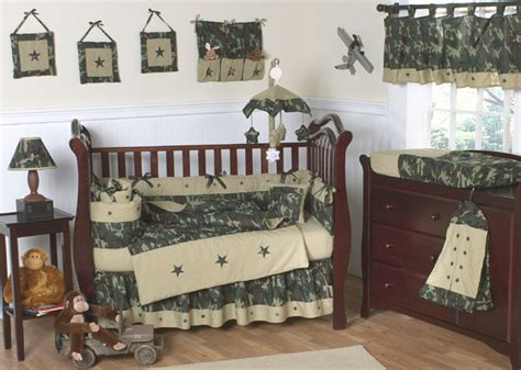 Camouflage Baby Crib Bedding Set by Luxury Unique Designer Camo Camouflage Baby Crib