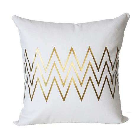 Etsy Pillows Covers by Metallic Gold Chevron Pillow Cover By Kwthome On Etsy