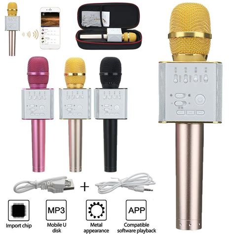 Mic Karaoke Ktv Q9 Bluetooth Wireless Microphone micgeek q9 wireless karaoke microphone ktv player bluetooth for iphone samsung ebay