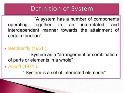 define systemize presentation system approach